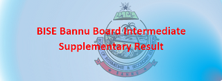 Intermediate Supplementary Result 2020 BISE Bannu
