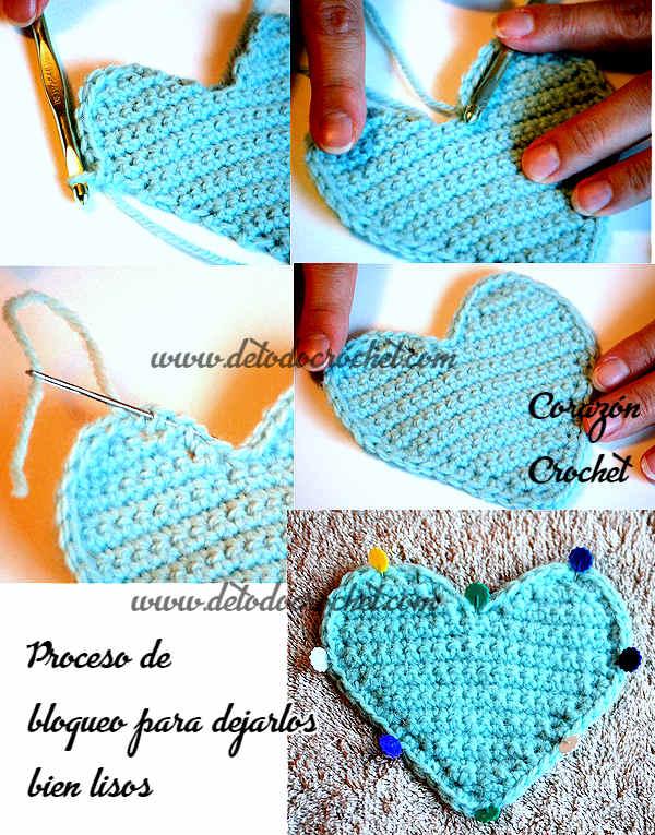 Corazones Crochet para Navidad / Paso a paso | Todo crochet