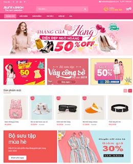 Giao diện Web bán hàng Thời trang - Theme Blogspot Hàng thời trang - Blogspotdep.com