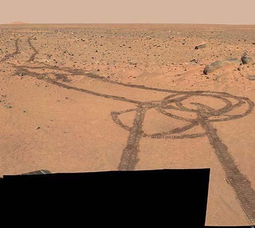 Las huellas de un rover no se parecen en nada a la huella presentada