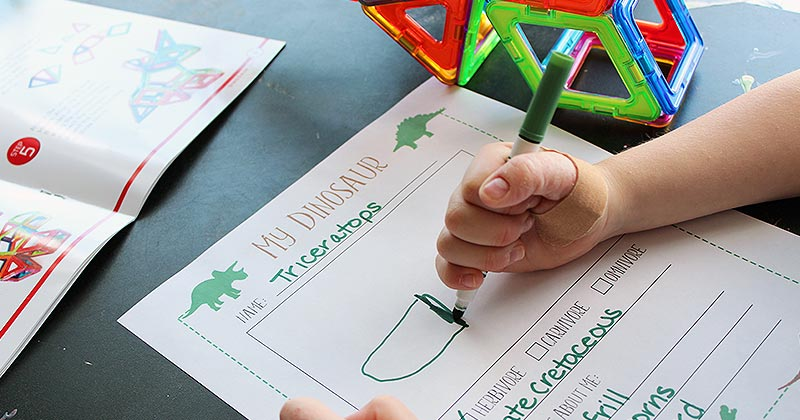 "Build a Dino Activity with a Free ""My Dinosaur"" Printable"