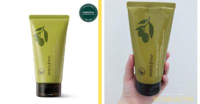 Innisfree olive real cleansing foam Sabun Cuci Muka Untuk Kulit Berminyak Dan Berflek Hitam