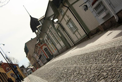 Cobbled street in the Old Town of Rauma