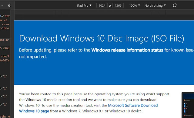 ISO Downloading page of Windows 10 May 2021 Update