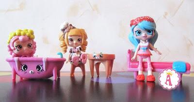 Мини куколки Shoppis с мебель Petkins из наборов Happy Places S1