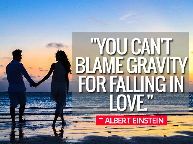 Happy Love Day 2021 Quotes Wishes for Your Valentines-You can't blame gravity for falling in love.