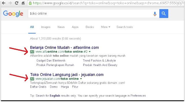 Tag 'Ad' di Pencarian Google Berubah Warna Menjadi Hijau , Sama Seperti URL