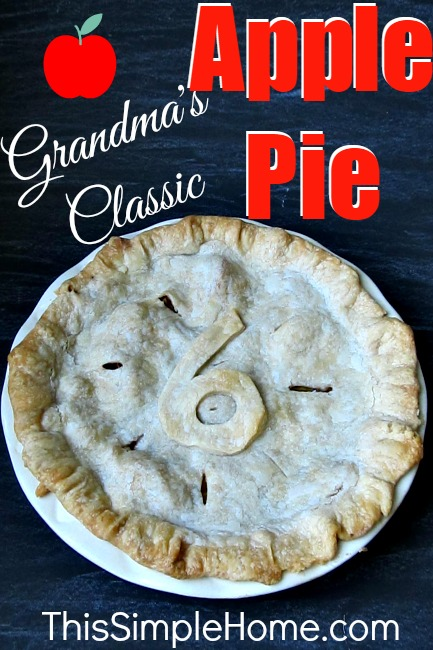 Classic apple pie recipe. Grandma taught me to make this! It's a family favorite.