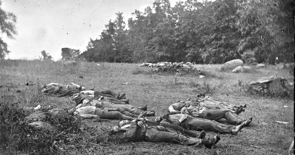 CIVIL WAR THEN & NOW: Gettysburg: Confederate dead at edge ...
