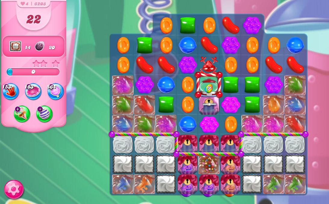 Candy Crush Saga level 6208