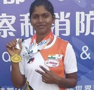 5- Constable Monali Jadhav wins 3 medals at World Police Games