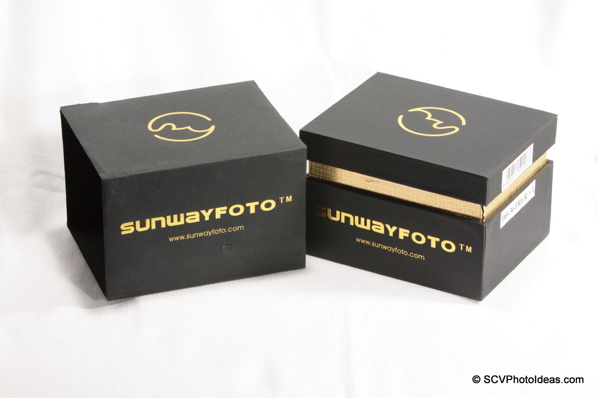Sunwayfoto DB-36TRLR Traveler Ball Head box sleeve