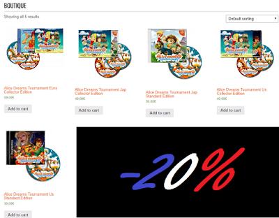 Merchandising Alice Dreams Tournament 20