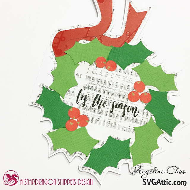 ScrappyScrappy: Christmas Pinecone and Holly cards with SVG Attic #scrappyscrappy #svgattic #unitystamp #stamp #card #cardmaking #papercraft #christmas #holiday