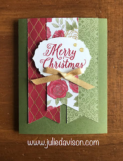 Stampin' Up! Christmastime Is Here Triple Banner Card ~ www.juliedavison.com #stampinup #christmas