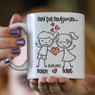 sevgilimin hediyesi kupa bardak