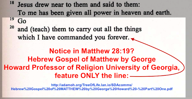 Matthew 28:19 The FALSE Trinitarian Translation.