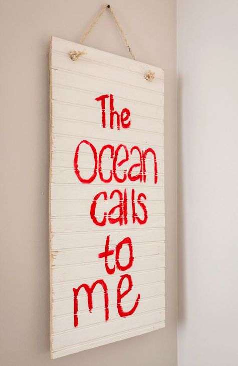 Ocean Quote Wood Sign