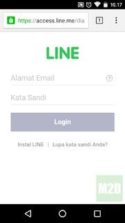Login ke akun LINE