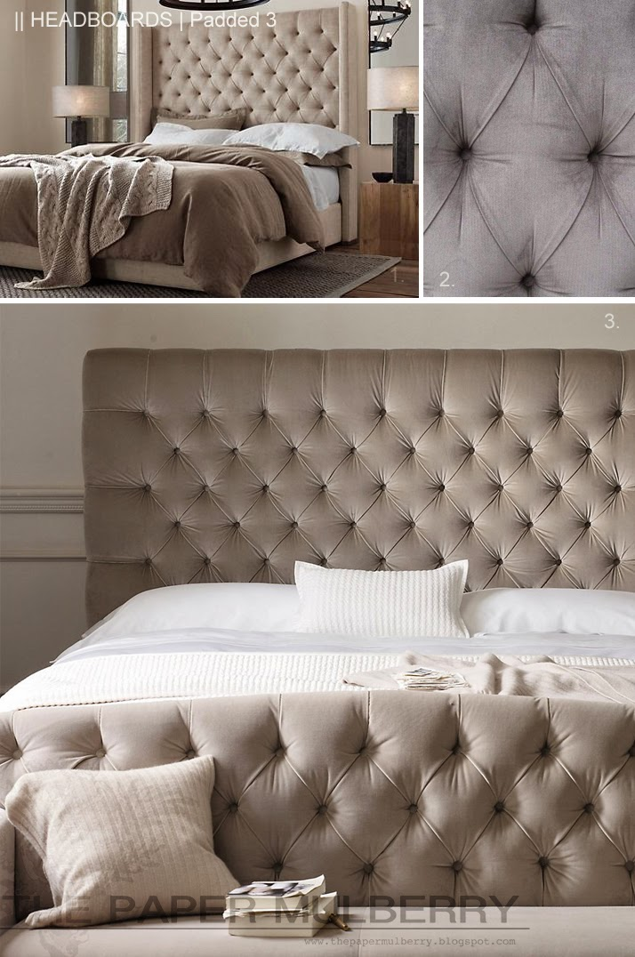 The paper mulberry headboards padded and upholstered for Bedroom ideas with upholstered headboards