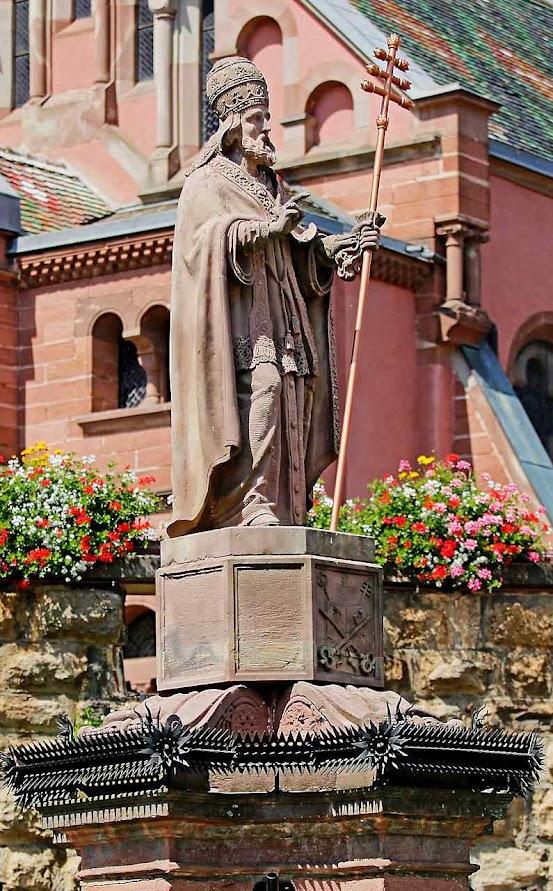 São Leão IX, fonte em Eguisheim