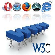 logotipo de w3c con los principales navegadores