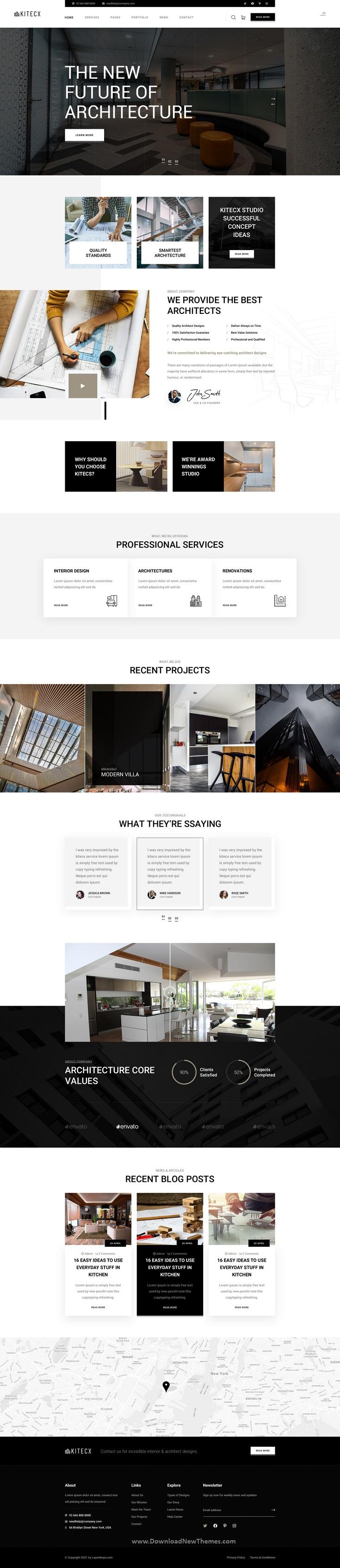 Architecture & Interior Photoshop Template