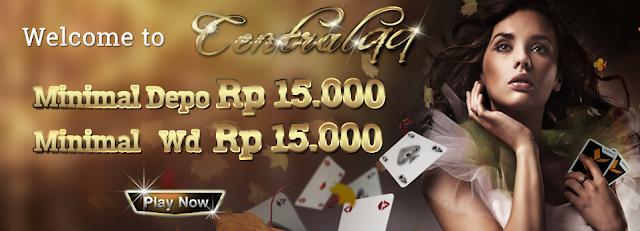 Gambar 1.1 welcome website Centralqq.net Situs Dominoqq Domino Qiu Qiu Domino 99 Poker Online Terpercaya