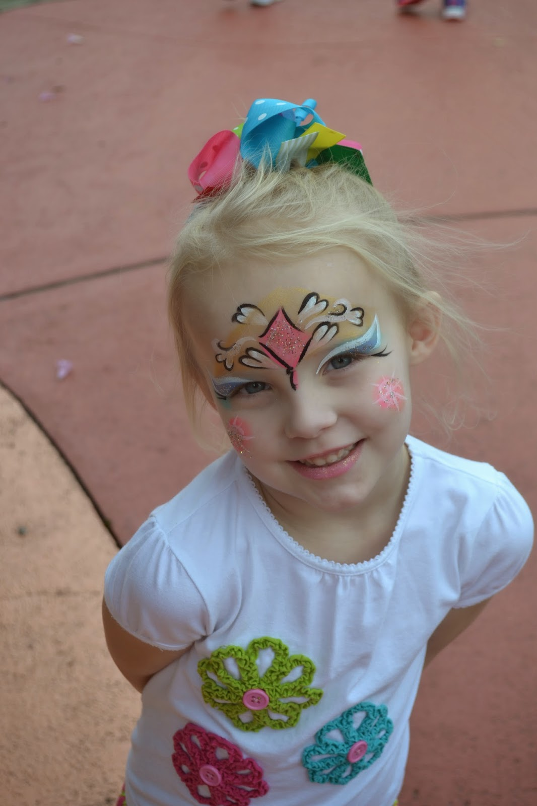 Had her face painted at Universal - Islands of Adventure