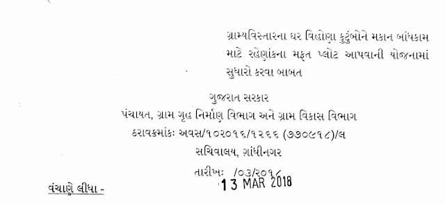 100 Choras Var Mafat Plot Yojna Detail And Download Tharav(Resolution)