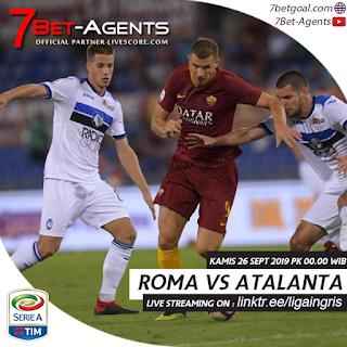 Live Streaming Serie A : Roma vs Atalanta, 26 September 2019