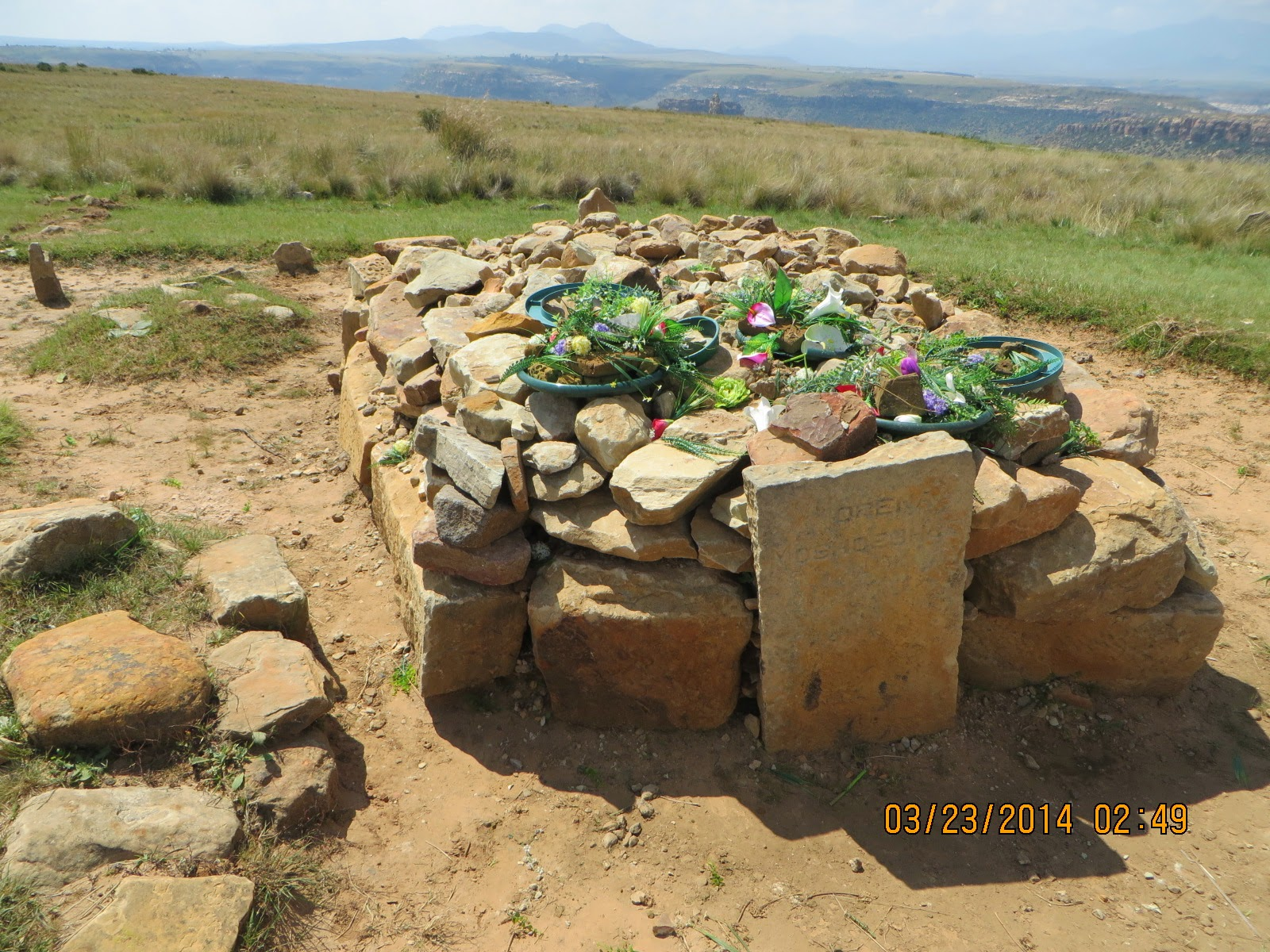 Mountain Top Gravesite of Moshoe-shoe 1st, founder of Lesotho