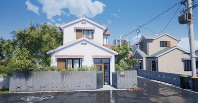 phối cảnh ngôi nhà nobita