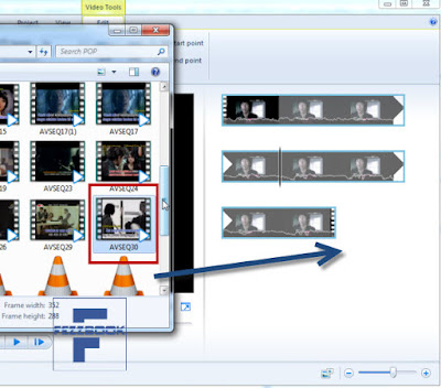 cara edit menggabungkan video dengan movie maker