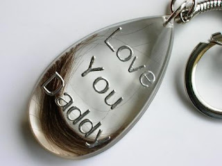 Memorial Keyring for a Lock of Hair