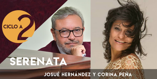 ESPECTÁCULO:  Serenata en clave de romance y bolero con Corina Peña y Josué Hernández en el BOD de Caracas.
