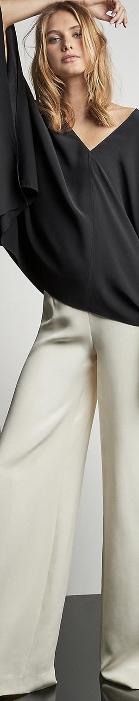 Ralph Lauren Charmain Silk Wide Leg Pant