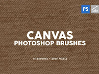 15 Canvas Photoshop Stamp Brushes