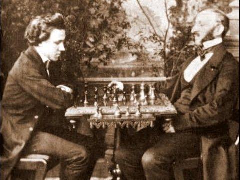 Paul Morphy face à Johann Jacob Loewenthal à la Nouvelle-Orléans en 1850