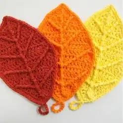 Hojas de Otoño a Crochet