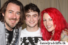 "Jonathan Ross and Jane Goldman (Woman in Black) visit Dan at ""How to Succeed"""