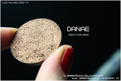 DANAE recensione  eyeshadow ombretto  goldust collection Nabla cosmetics
