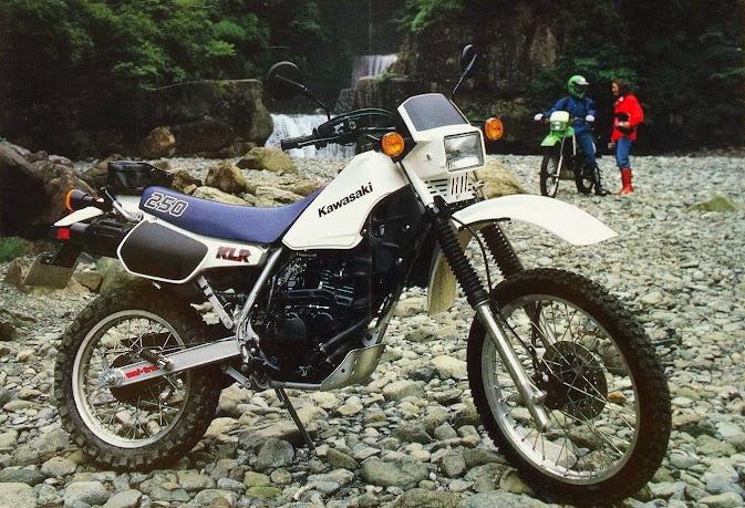 Kawasaki KLR 250 shot from the mid 1980s