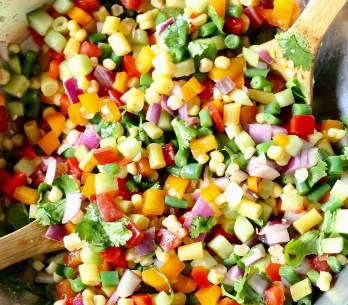 Spring Chopped Salad #vegetarian #veggies