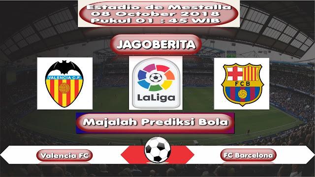 Prediksi Bola Valencia FC vs FC Barcelona 08 October 2018
