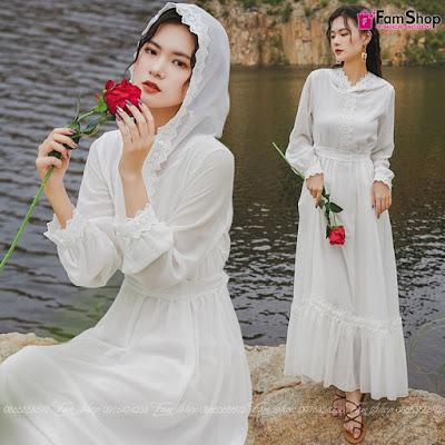 Shop bán váy maxi đi biển tại Văn Miếu