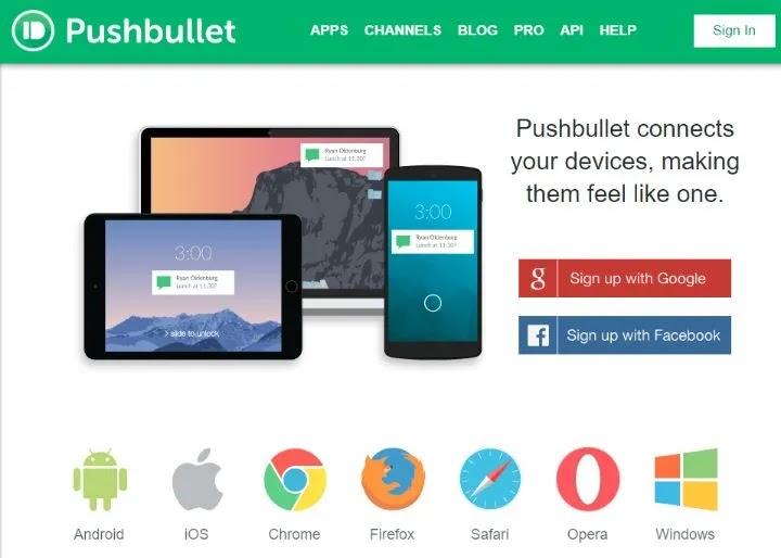 نص الحاسوب Pushbullet