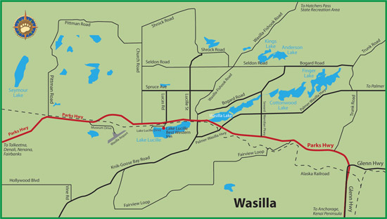 Wasilla Alaska Map Maps of Alaska Roads By Bearfoot Guides: Map of Wasilla, Alaska Wasilla Alaska Map