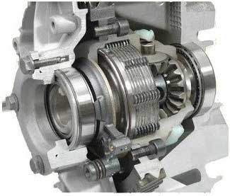 Limited-slip differential with friction clutches