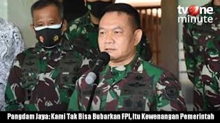 Pangdam Jaya Klarifikasi: Kami Tak Bisa Bubarkan FPl, Itu Kewenangan Pemerintah